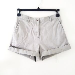 3/$30 // High Waist Raw Edge Khaki Shorts